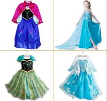 Wedding dress baby kids girl clothes children clothing girls cute princess party dress Anna Elsa winter