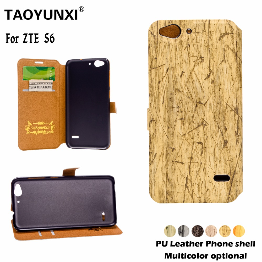 Luxury PU Leather Flip Cover For ZTE Blade S6 Q5 5inch Phone Bags Back Cases&Card Slot Tree Veins Magnetic Wallet Stand Case(China (Mainland))