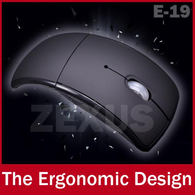 E19 USB 2.4G Wireless Optical Mouse 3D Folding Office Mause Mice For Laptop Notebook Computer Peripherals(China (Mainland))