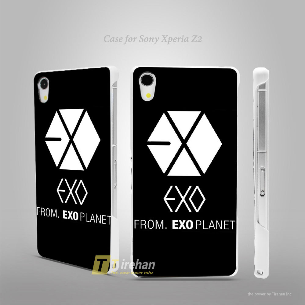 Exo Kpop band from exo planet Hard White Plastic Skin Case Cover Shell Coque for Sony Xperia Z2 Z3 Z4(China (Mainland))