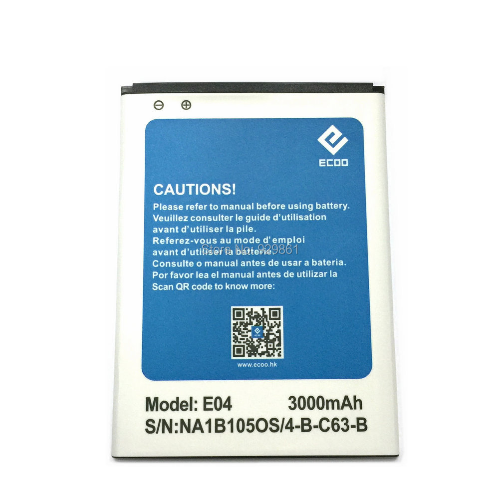 ECOO E04 100% Original New 3000mAh Large Replacement Battery For Bluboo X6 For ECOO E04 Plus Mobile Phone - In Stock(China (Mainland))
