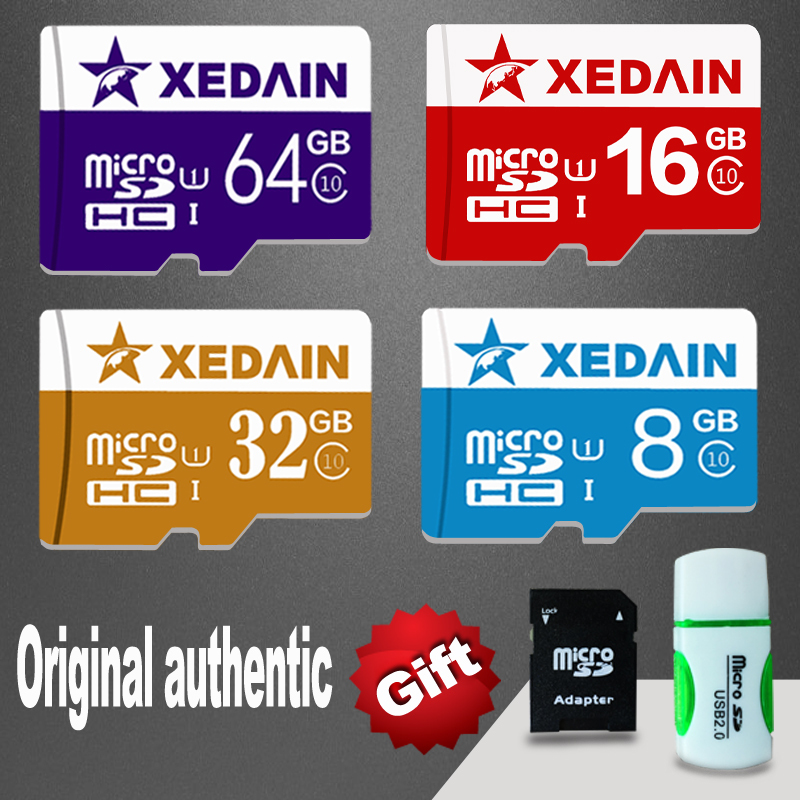 XEDAIN Brand colorful Memory cards micro sd mini sd card 8GB 16GB 32GB 64GB class 10 TF card microsd Flash Card free shipping(China (Mainland))