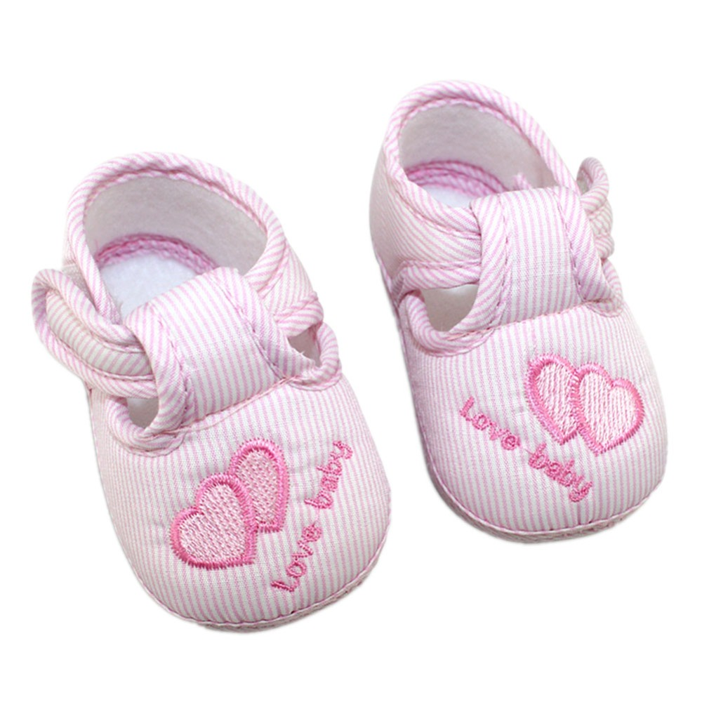 New Cotton Lovely Baby Shoes Toddler Unisex Soft Sole Skid-proof 0-12 Months Kids infant Shoe 3 Colors<br><br>Aliexpress