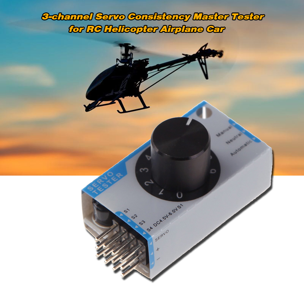 Original GoolRC Mini 3 Channel Servo Tester Servo Consistency Master Tester for RC Helicopter Airplane Car(China (Mainland))