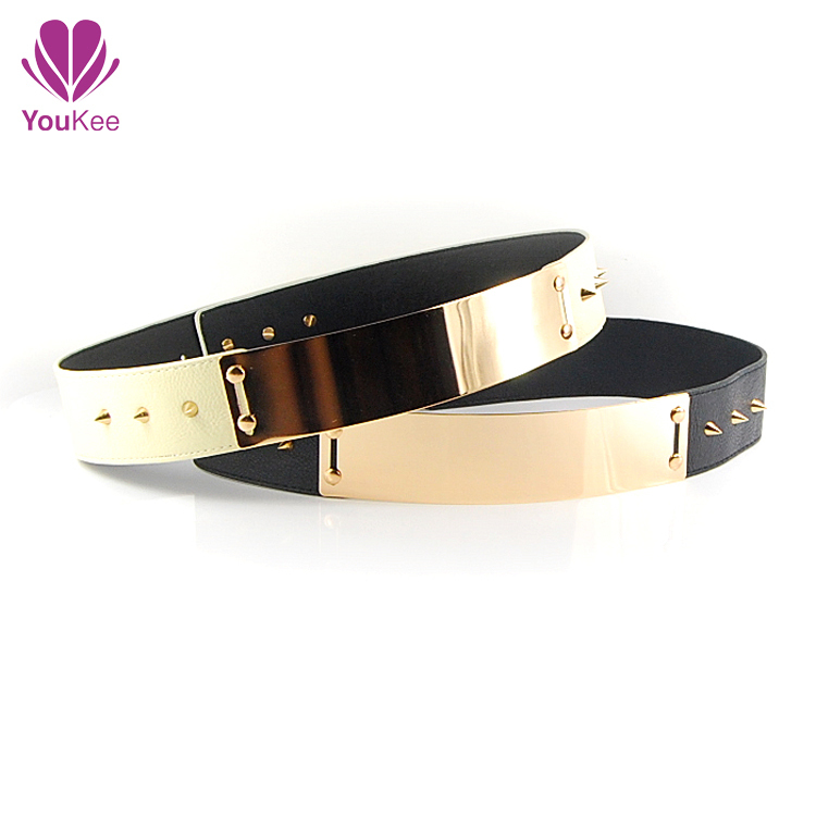 2014 Korea style double buckle imitation leather cummerbunds women,elastic wide waist belt,female dress decoration - YouKee Jewelry store