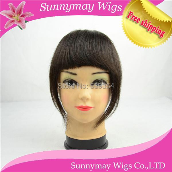 100% Brazilian human hair Girls Clip in Fringe Hair Extensions Beautiful sweeping clip in fringe/ bangs