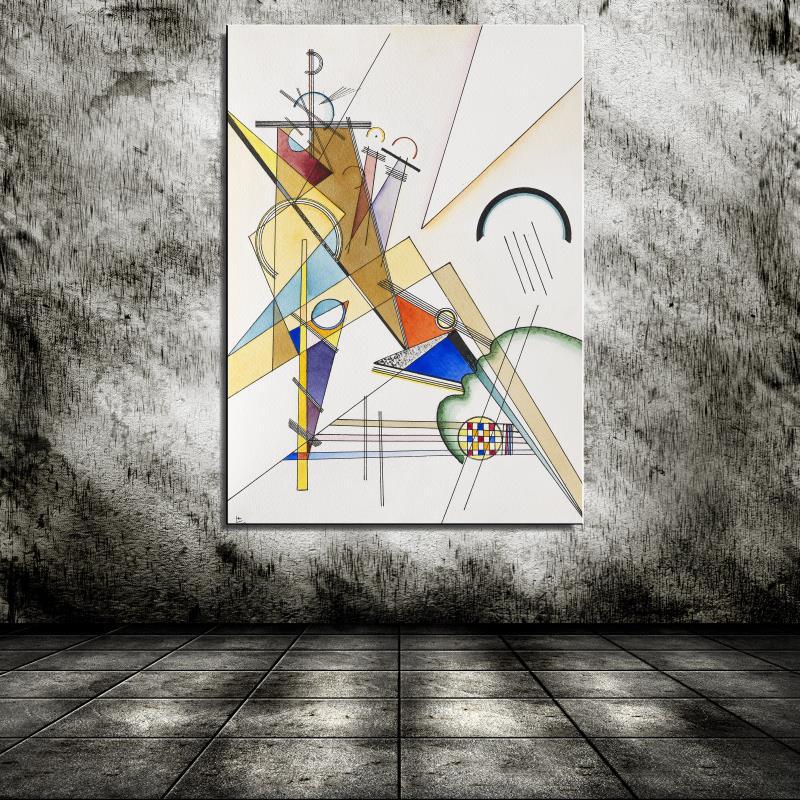 Graffiti Gewebe Cartoon Abstract Wassily Kandinsky Canvas Oil Painting Spray Frameless Unframed drawing on the wall straw(China (Mainland))