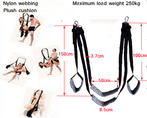 New free shipping Nylon Sponge sex swing for couples love sex furniture styling tools for adult games sex toys for couples 547(China (Mainland))