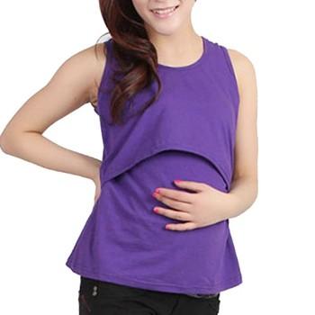 New Maternity Clothes Nursing Tops Breastfeeding Top Nursing Shirt Tank Tops