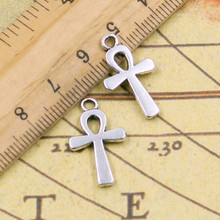 Buy 10pcs Charms ankh cross 22*13mm Tibetan Silver Plated Pendants Antique Jewelry Making DIY Handmade Craft for $1.34 in AliExpress store