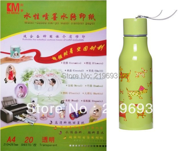 A4 size clear/transparent color,inkjet water slide decal paper,free shipping(China (Mainland))