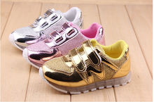 New Baby Girls Boys Light Shoes Sports Boots Velcro Kids Sneakers 3 Colors Size 21~30# 5 pairs/l(China (Mainland))
