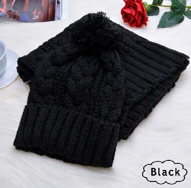 Трикотажные зимние шапки для женщин hat шарф из двух частей устанавливает новинка touca gorros капот шапочки