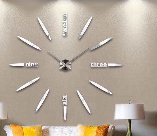 montre mural design in lettre forme d numrique horloge. Black Bedroom Furniture Sets. Home Design Ideas