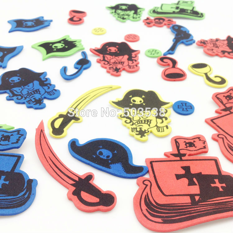 130PCS/LOT.Halloween Pirates Foam stickers,Kids DIY toy.Scrapbooking kit.Early educational DIY.kindergarten crafts.Activity item(China (Mainland))