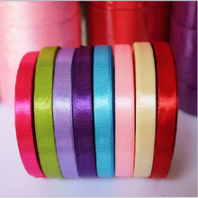 25 Yards/Roll 6mm Width Colorful Silk Satin Ribbon Wedding Party Decoration Gift Craft Sewing Fabric Ribbon Cloth Tape DIY(China (Mainland))
