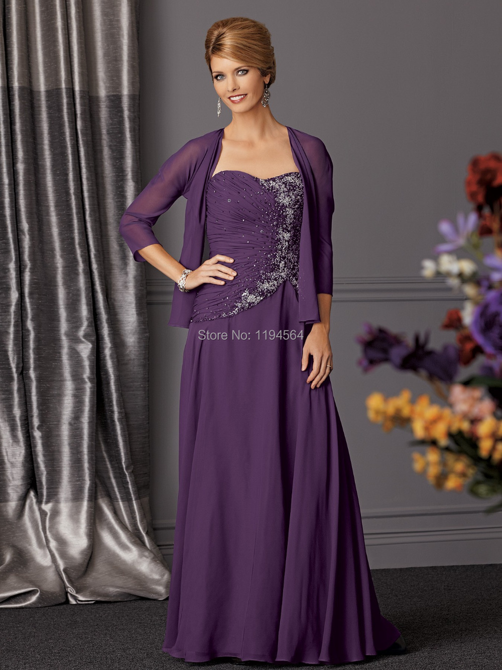 2015 purple chiffon mothers dresses for beach weddings for Womens dress jacket wedding