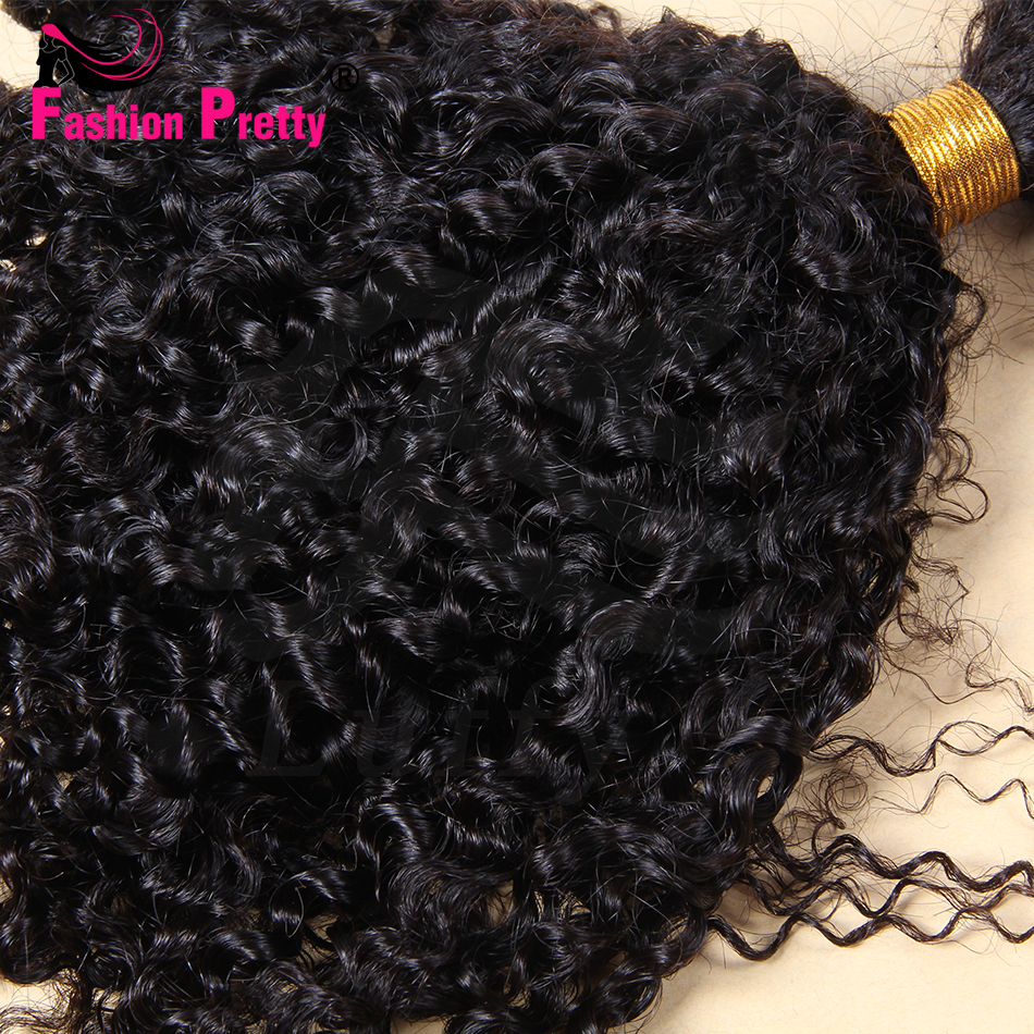 8A Grade Virgin Mongolian Loose Kinky Curly Bulk Hair For Braiding Unprocessed 100g Bulk Human Hair No Weft Bulk Hair Extensions