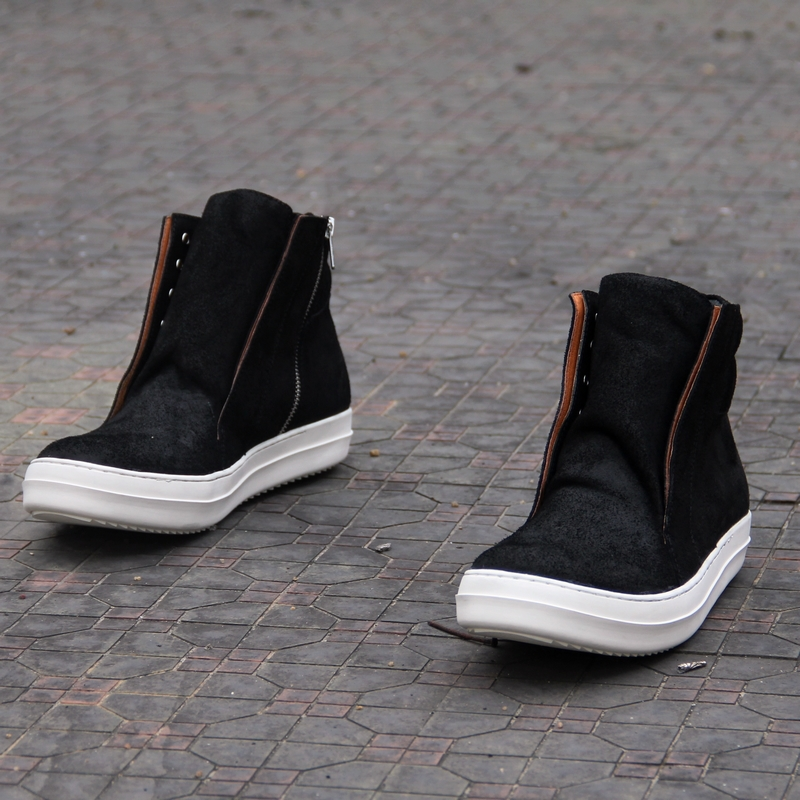 Big sizes 35 47 Genuine leather Fashion men sneakers brand Casual men shoes nubuck leather man