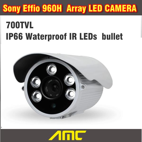 Фотография Sony Effio CCD 700TVL CCTV Camera IR Array LED Bullet CCTV Security Camera Outdoor Night Vision Weatherproof Home Security