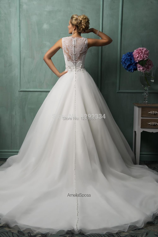 Brautkleider mit einem Schatzausschnitt