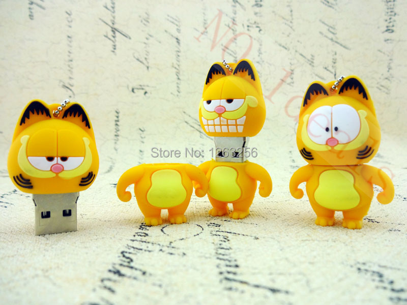 Pen Drive Garfield cat 1GB 2GB 4GB 8GB 16GB 32GB 64GB Usb Flash Drive memory stick Pendrive Pendriver mini gift(China (Mainland))
