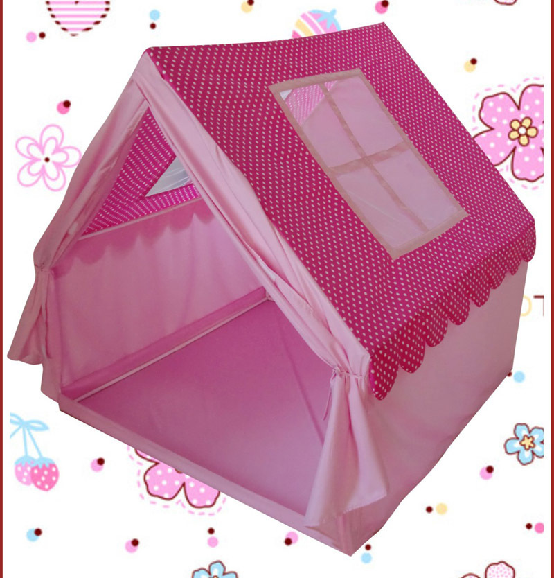 2016 children's playground princess big play house pink kids teepee tents girl / tents/ birthday christmas gift - hessian party decoration store