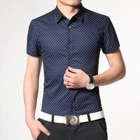 Мужская платье рубашки элегантный образец легкого ухода комфорт мужской топы здоровья для кожи хлопок однотонный бизнес & Повседневная рубашка мужчины m-4xl