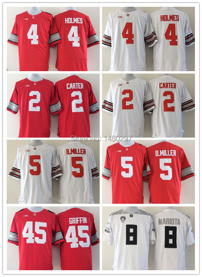 2015 Archie Griffin Braxton Miller Cris Carter Ohio State Buckeyes Sugar Bowl College Football Playoff Special Event Jersey(China (Mainland))