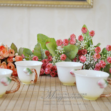 Supply Gao Nai Jingdezhen Ceramic hand painted relief peach tea three sets of English tea Coffee
