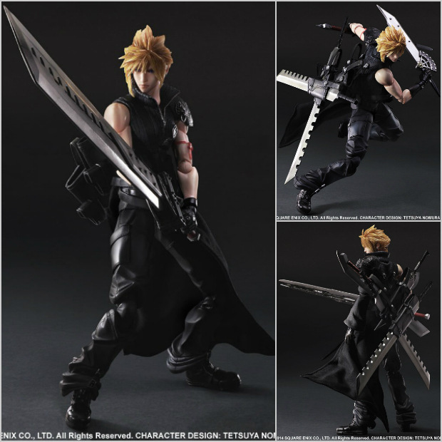 PLAY ARTS Game Action Figure Toys Final Fantasy VII Cloud Strife 28cm High PVC Figure Model Toy New In Box For Collection/Gift(China (Mainland))