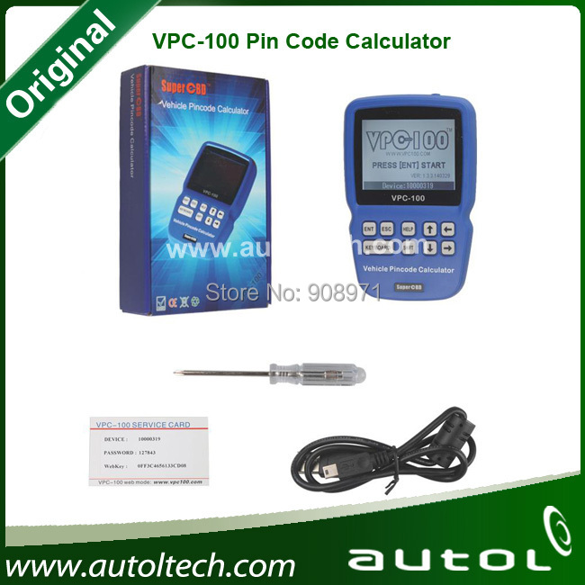 VPC100 icc immo calculator immobilizer pin code reader,professional universal auto diagnostic scanner(China (Mainland))