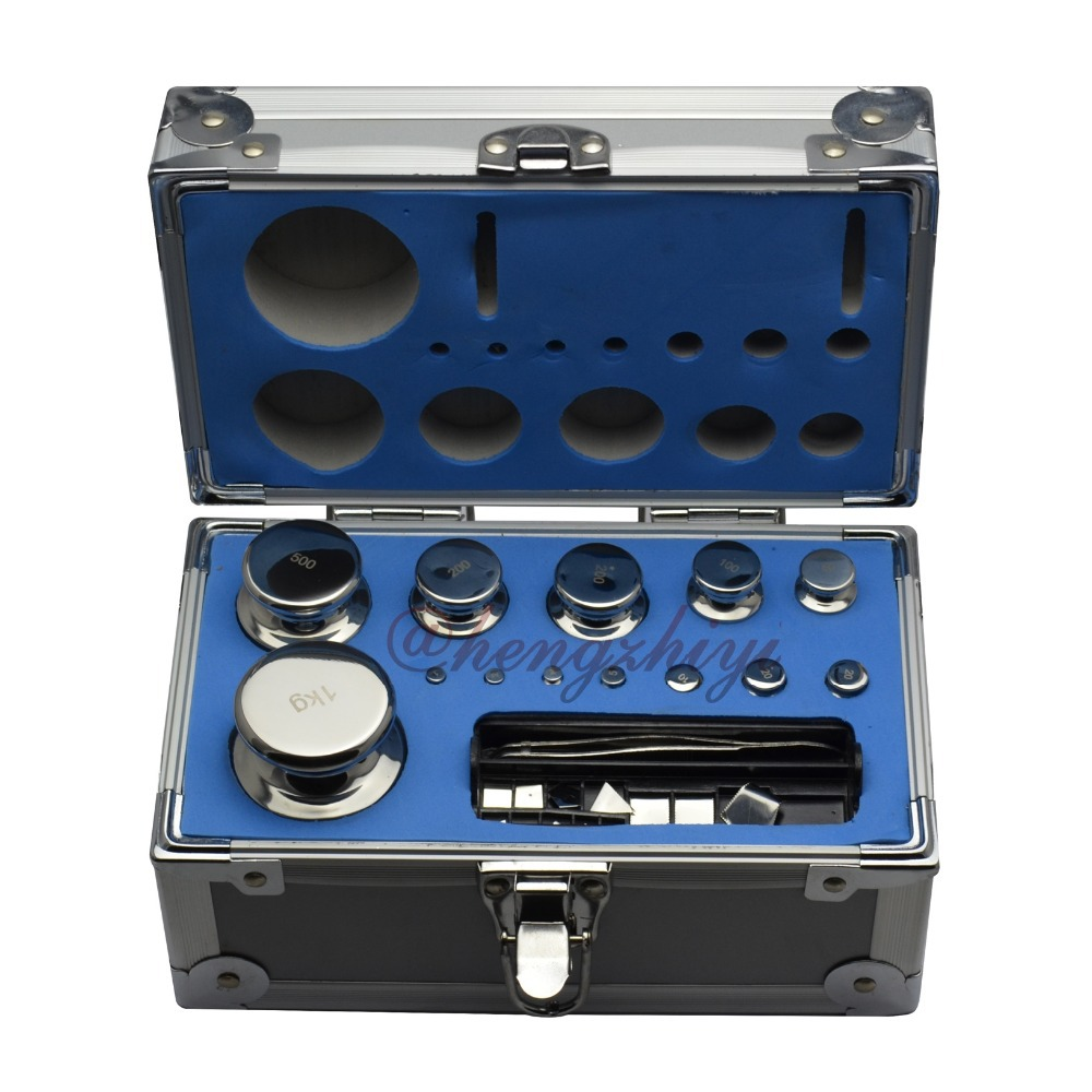 F2 Class 1mg-1000g 304 Stainless Steel Calibration Weights Kit Set w Certificate for Laboratory Scales Balance, 25pcs Inside<br><br>Aliexpress
