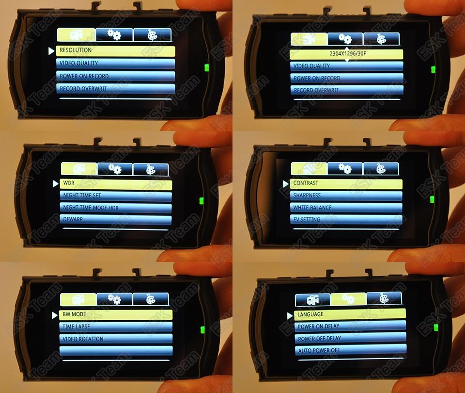 A7810G Pro 1296P Full HD dashcam 2,7 inch met WDR en Nachtvisie