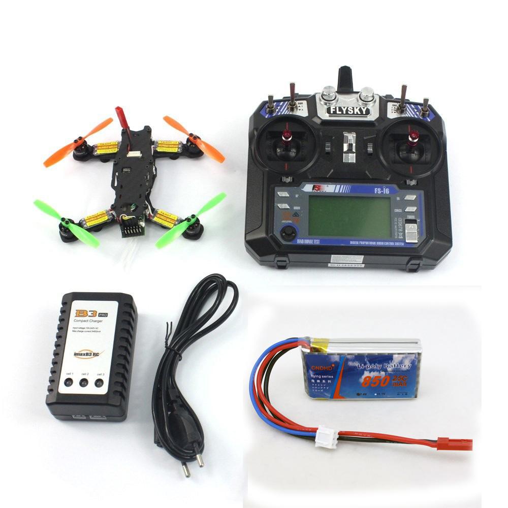Tarot 2.4G 6CH RC Mini Racing Drone 130 RTF DIY TL130H1 CC3D Flight Control 520TVL HD Camera Quadcopter Combo Set F17840-A