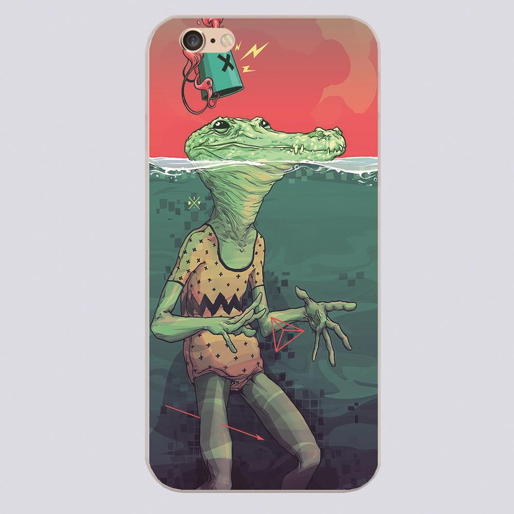 New arrived Pool Croc by I . D . V Design white skin case cover cell phone cases for iphone 4 4s 5 5c 5s 6 6s 6plus(China (Mainland))