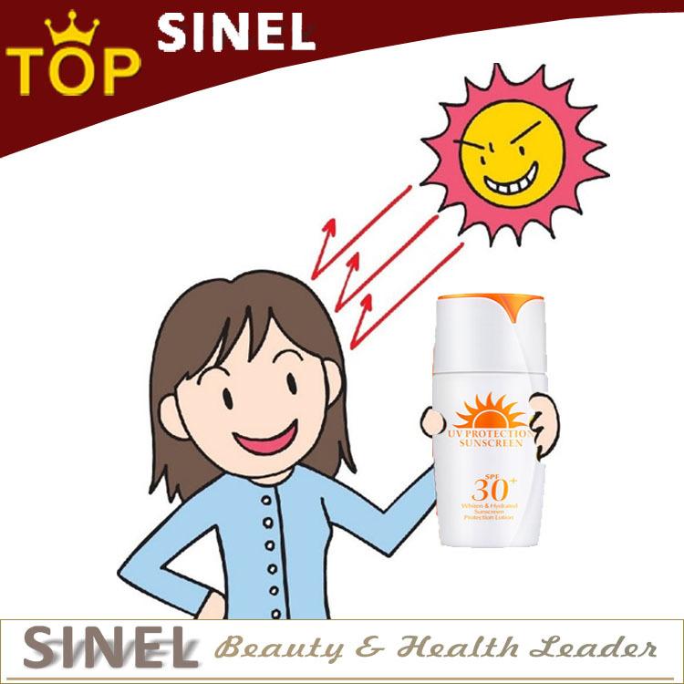 Professional sunscreen repair sunburn lighten skin and hydrating sunscreen protection lotion whitening cream anti sunblock(China (Mainland))