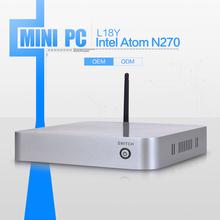 Mini Pc Linux Wifi Mini Linux Server Ultra Low Power L-18Y N270 Dual Lan 4gb Ram 500gb HDD
