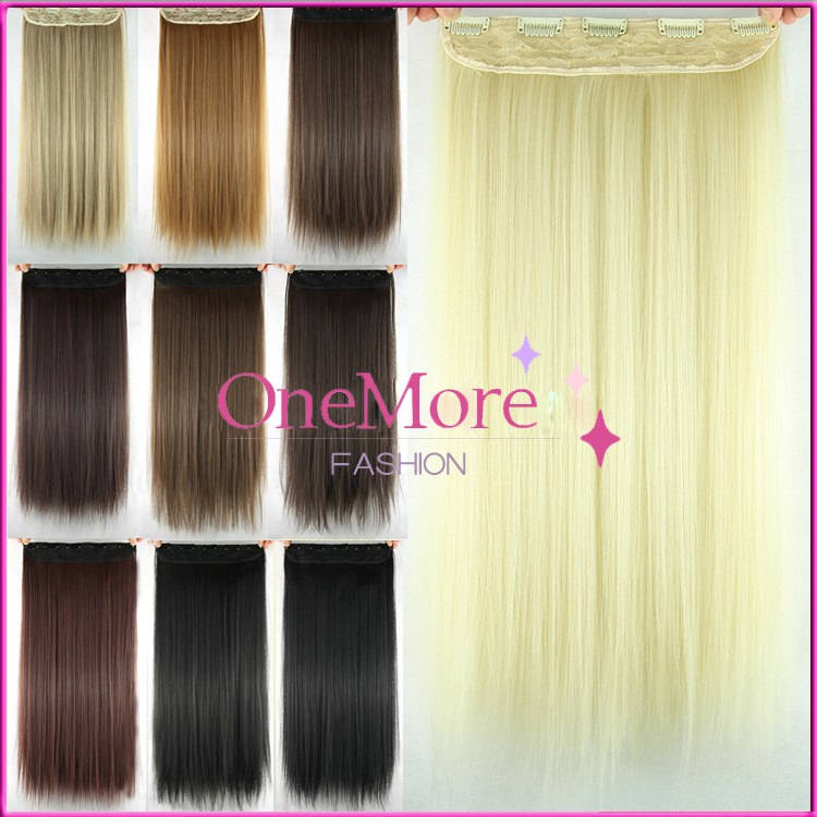 110g Secret Extensions Heat Resistant Fiber False Synthetic Clip in Hair Extension Hairpiece Blonde apply Hair Pieces Styling<br><br>Aliexpress