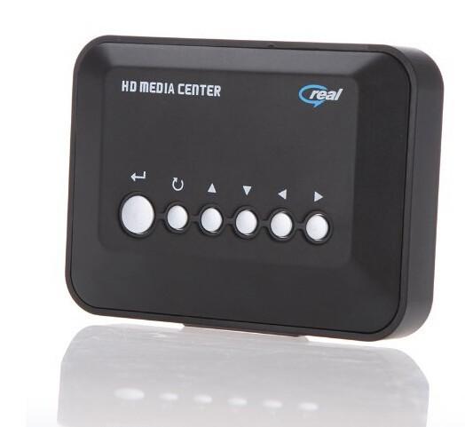 Multi-language menu C100 HDD TV Player Full HD Media Player RM/RMVB/AVI/MPEG with USB and SD/MMC Port 720P Media Player(China (Mainland))