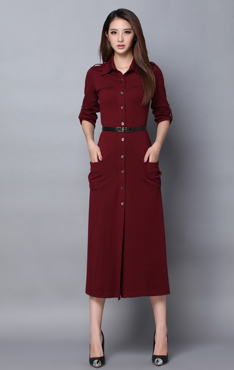 Fashion Style Street Autumn And Winter Elegant Formal High End Brand Ladies Slim Casual Long