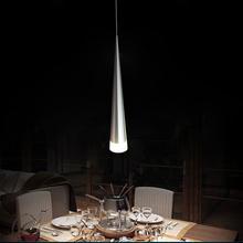 Free Shipping Modern Led Pendant Lights 1 Lamps Transparent Acrylic  Aluminum Metal Plating Dinning Living Room(China (Mainland))
