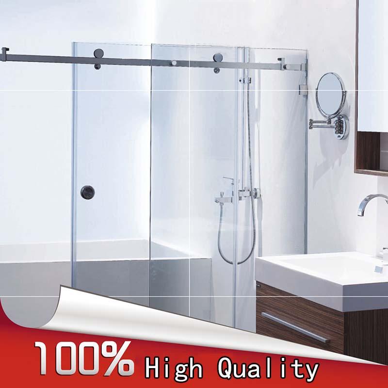 quality frameless shower sliding door whole set bathroom glass door