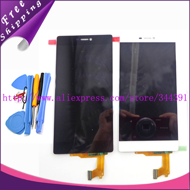 Original White Black for Huawei Ascend P8 LCD Display Touch Screen Panel Digitizer Assembly Replacement Repair Parts+free tools