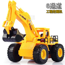 360 degree rotation stunt RC cars Children excavator electric toy car simulation project car electronic toys remote control toys(China (Mainland))