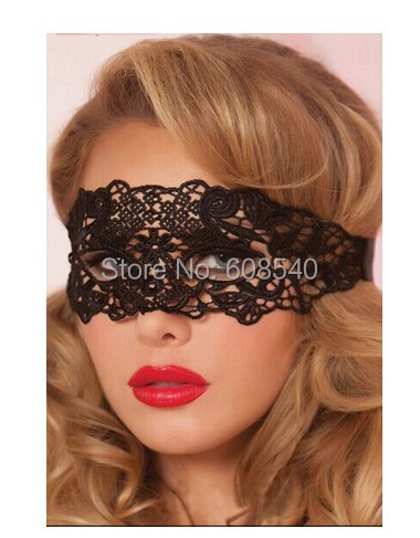 1PC Black Sexy Lace Mask Cutout Eye Mask for Halloween Masquerade Party Fancy Dress Costume AE01340(China (Mainland))