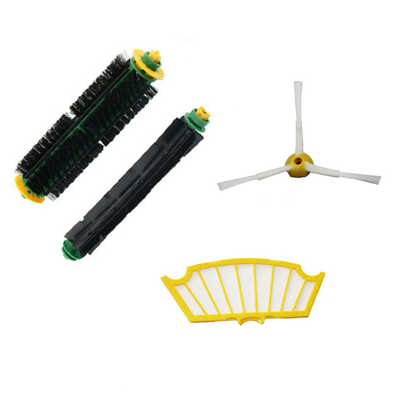 New Side Brush Filter Mini Kit 3 Armed for iRobot Roomba 500 Series 530 540 550 560 570 580 Free Shipping(China (Mainland))