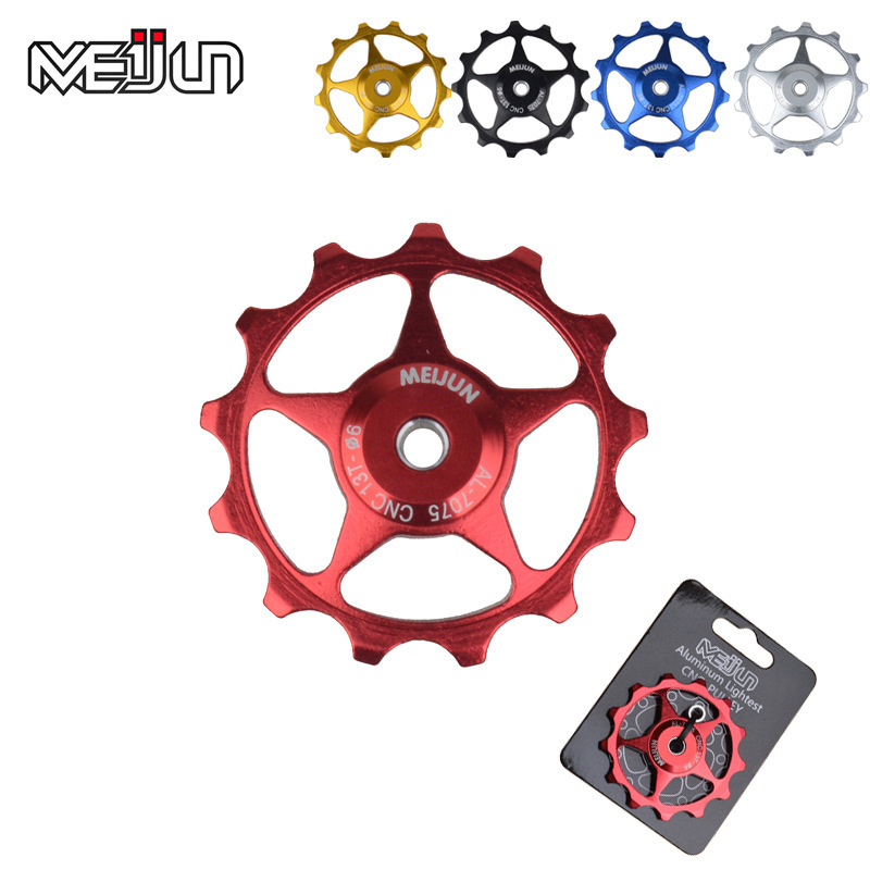 2pcs/lot Brand 11T 13T Bicycle Rear Derailleur Jockey Wheel Aluminum Alloy Road MTB Bike Guide Roller Idler Pulley Parts #5(China (Mainland))