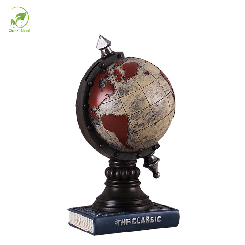 Mini Resin Crafts Decorate World Globe Teach Education Earth Atlas Geography Toy Map Elastic Ball Model Figurines Ornaments 24cm(China (Mainland))