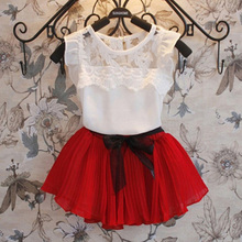 New 2016 children clothing set baby kids girl's chiffonsummer kid beautiful vetidos infants costume,CCL04126